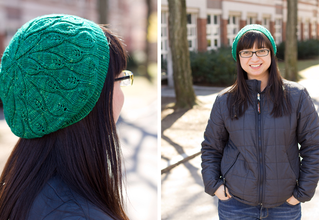 Leaf Beret Knitting Pattern : rustling leaves beret pepperknit