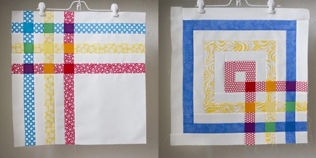 rainbow mini quilts