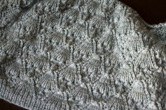 lace batwing top progress