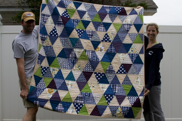 isoscles triangle quilt