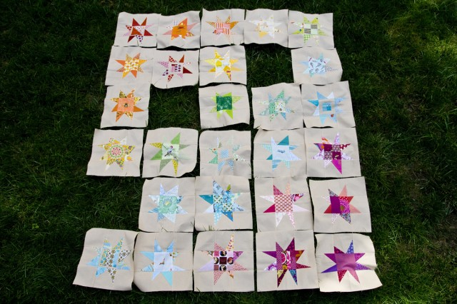 wonky star quilt layout