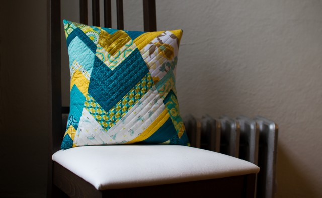shattered chevron pillow