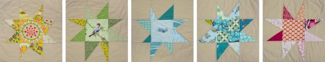 wonky star quilt stars