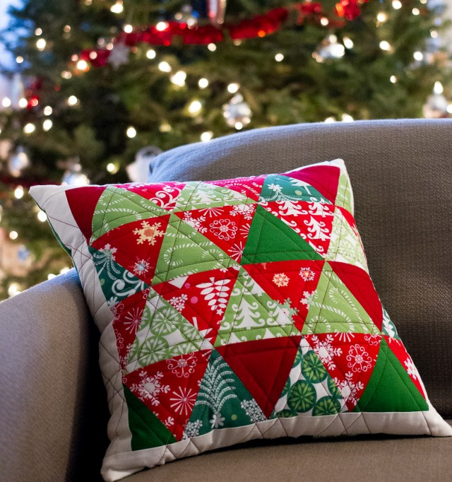 sewn christmas pillow