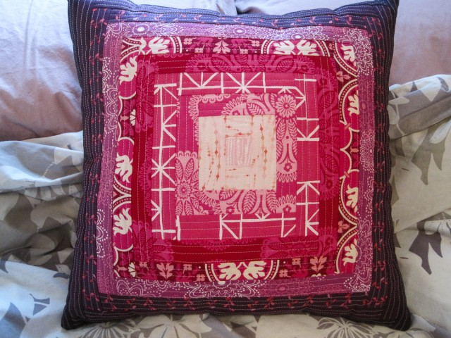 QAYG log cabin pillow