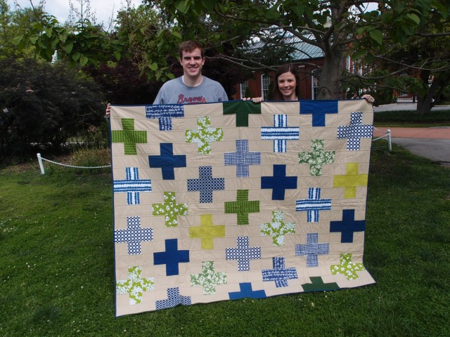 plus quilt with the recipients