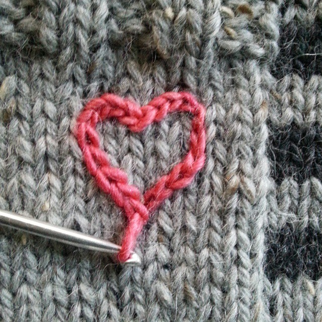 surface crochet heart