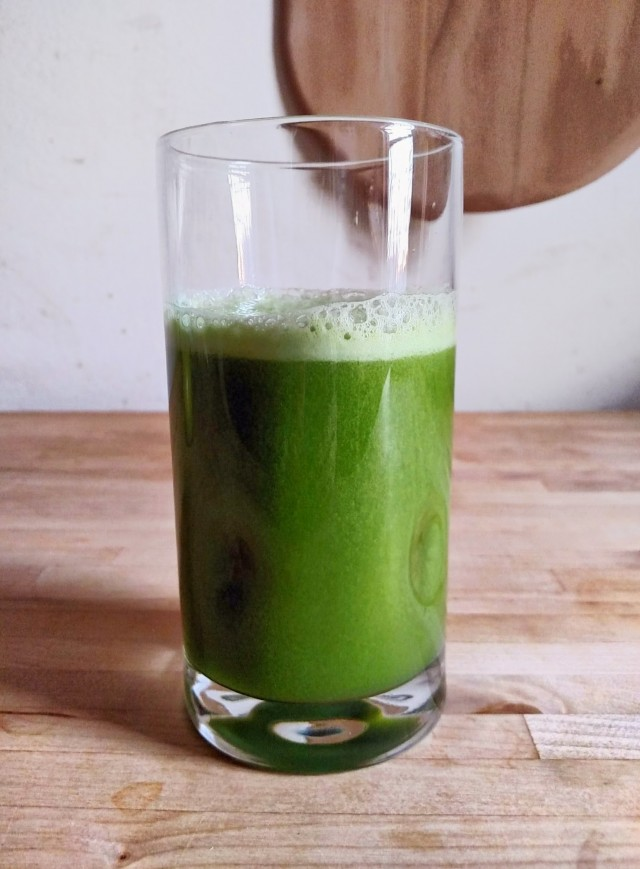 my first homemade green juice