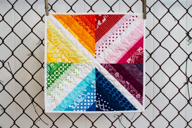 pepperknit | rainbow mini quilt