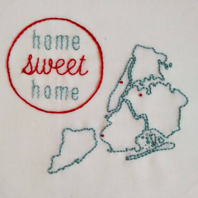 pepperknit | embroidered NYC map
