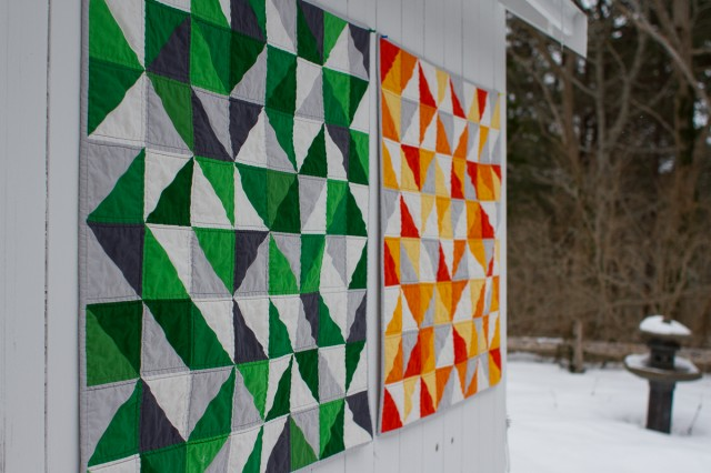 pepperknit | twin HST quilts