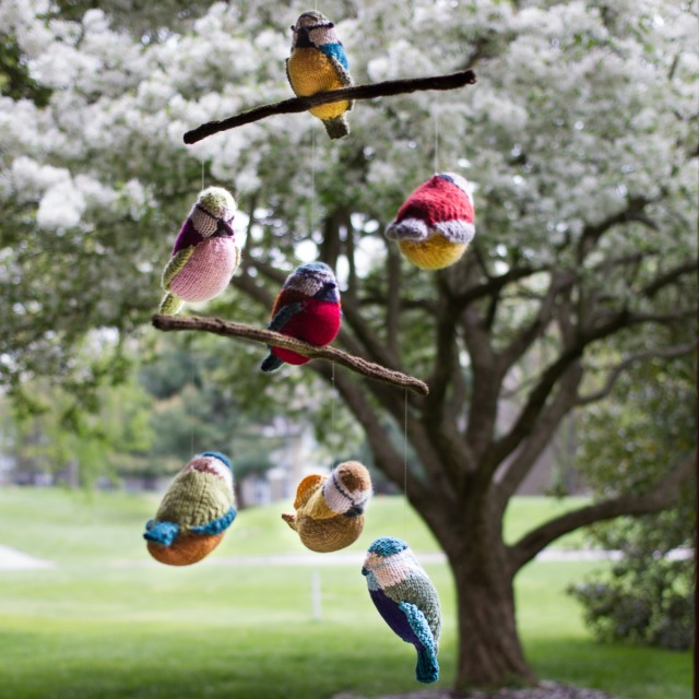 pepperknit | knit bird mobile -- group project