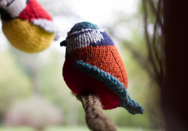pepperknit | knit bird mobile