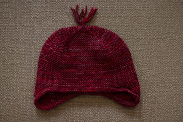 purl soho garter earflap hat | pepperknit